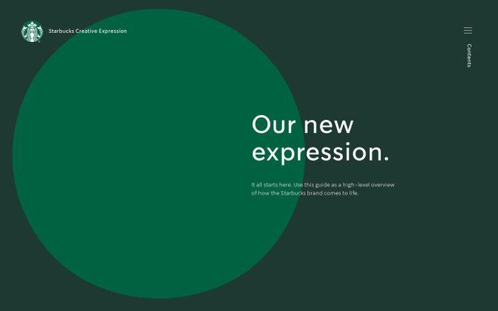 Screenshot of Starbucks Creative Expression