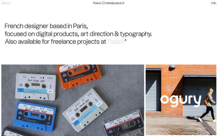 Screenshot of Nicolas Paack website