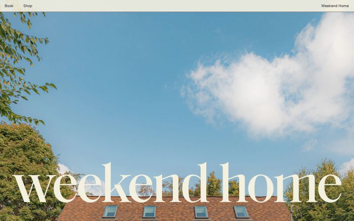 Screenshot of Weekend Home website