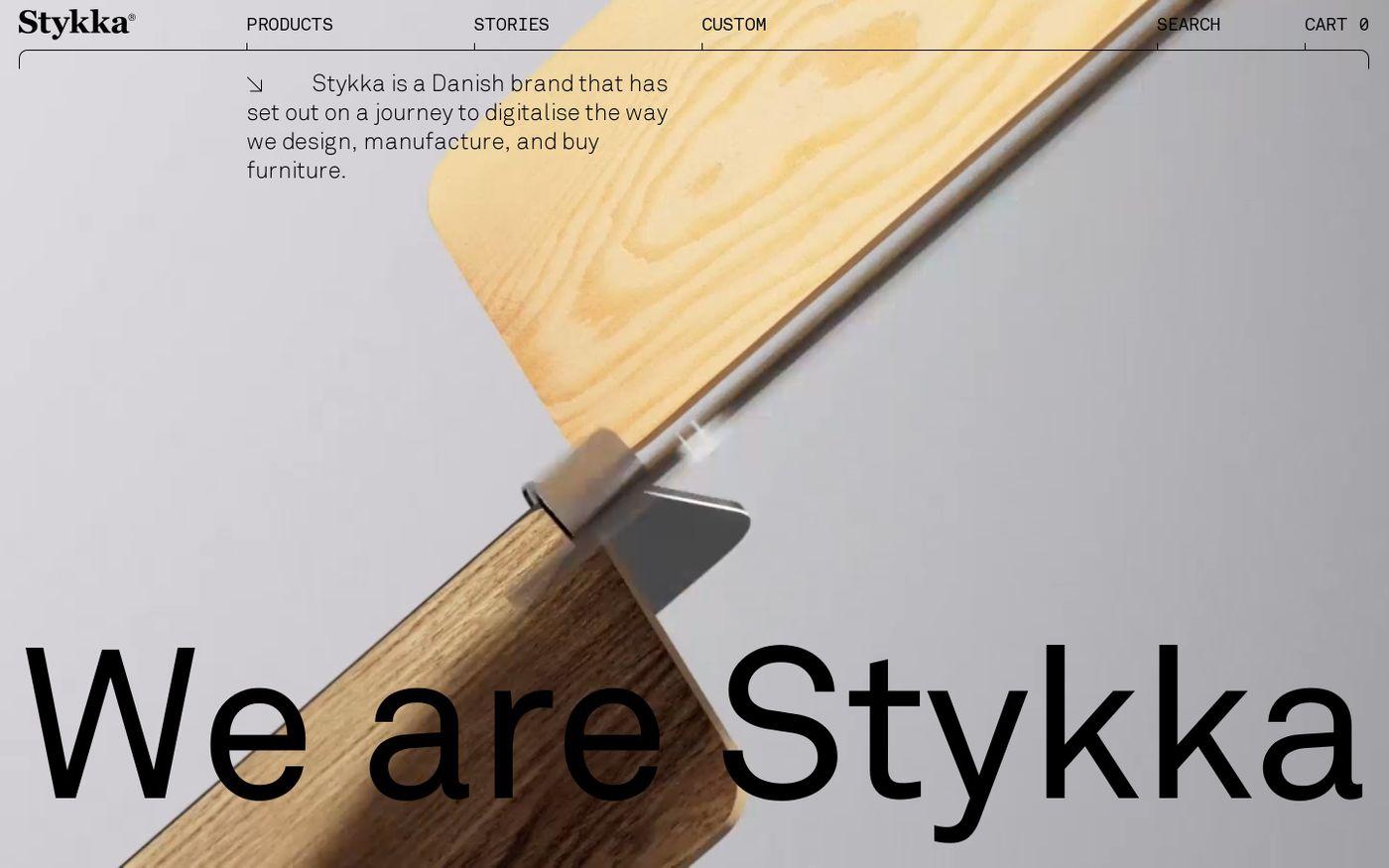 Screenshot of Stykka website