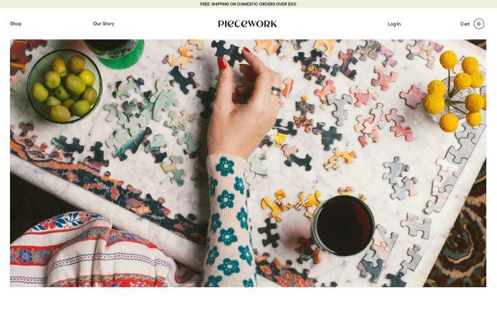 Screenshot of Piecework Puzzles