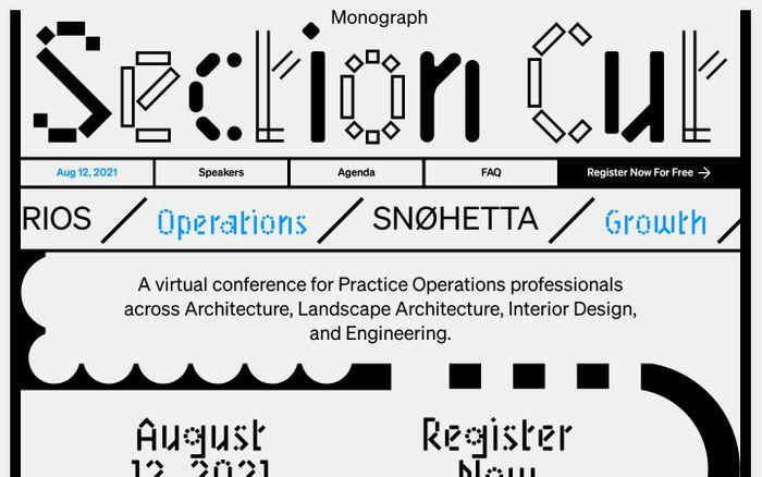 Screenshot of Section Cut 2021 website