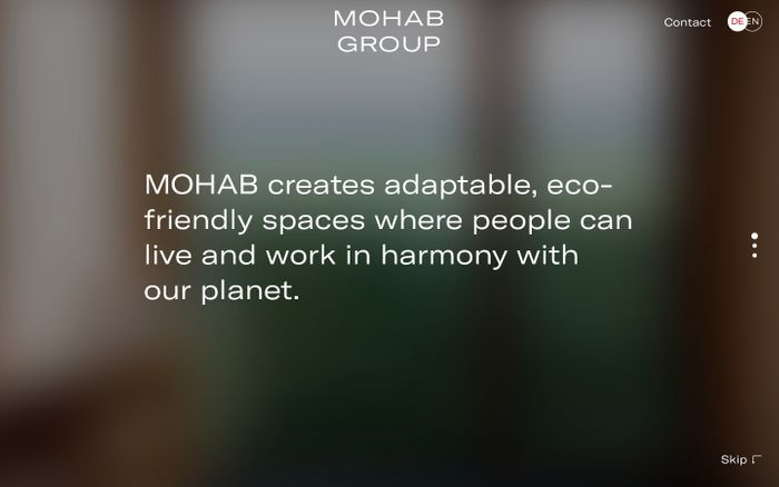 Screenshot of MOHAB Group website