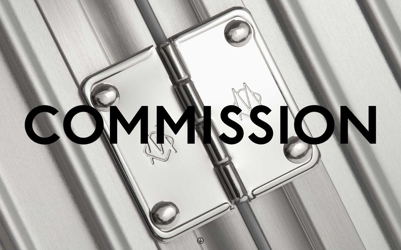 Screenshot of Comission website