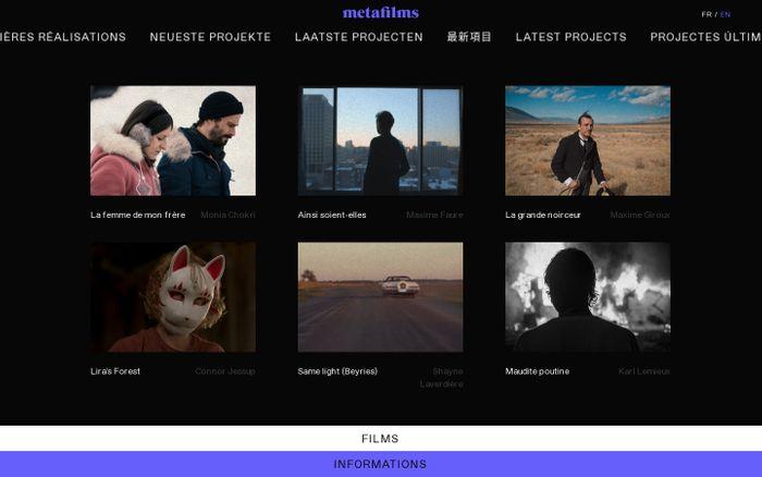 Screenshot of Metafilms