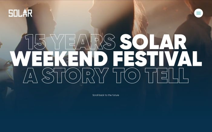 Screenshot of 15 years — Solar Weekend | 1 t/m 4 augustus 2019