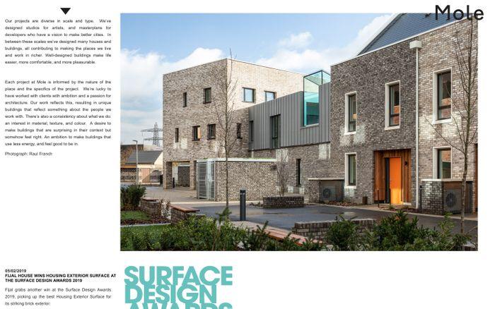 Screenshot of Mole Architects | Cambridge Architects