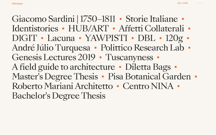 Screenshot of Fabio Santaniello Bruun website