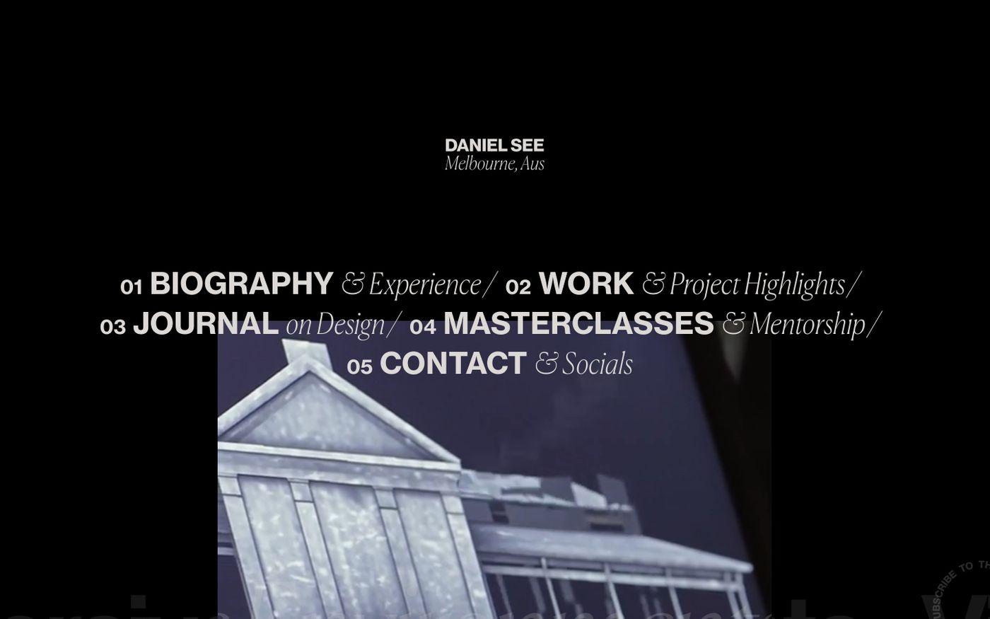 Screenshot of Daniel See website