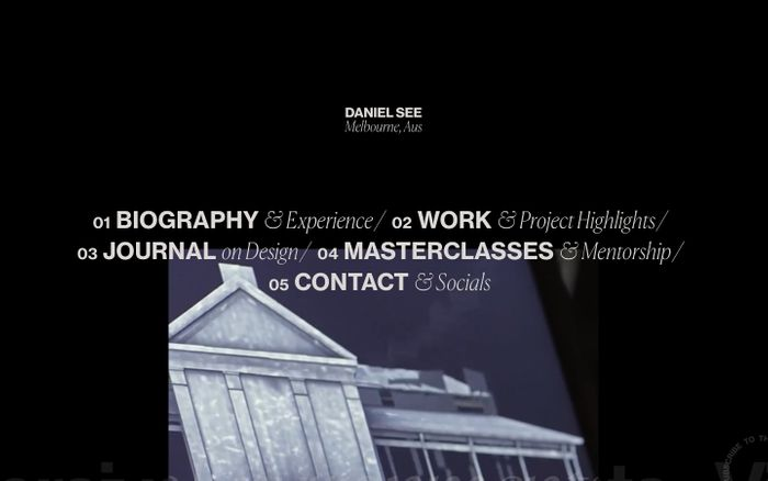 Screenshot of Daniel See website