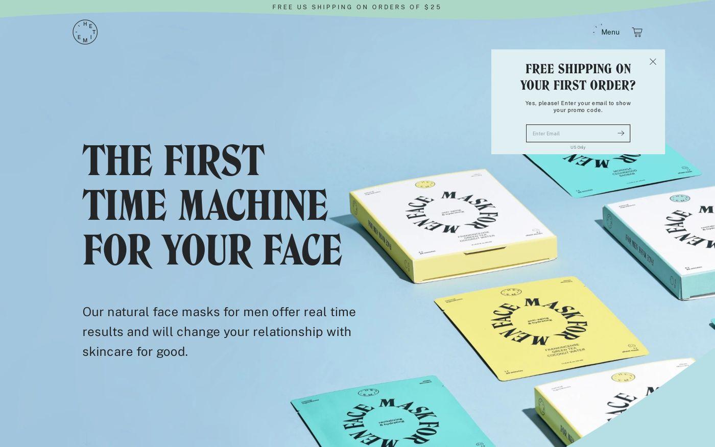Screenshot of Hetime website