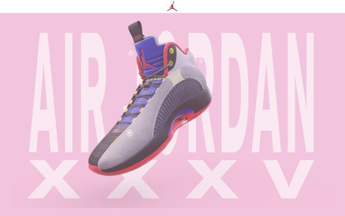 Screenshot of Nike - AJXXXV Unveil