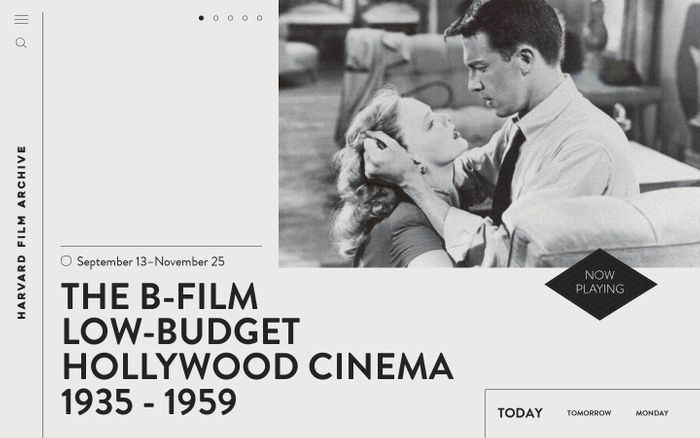 Screenshot of Harvard Film Archive