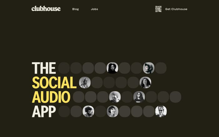 Screenshot of Clubhouse website
