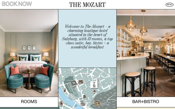 Screenshot of The Mozart hotel