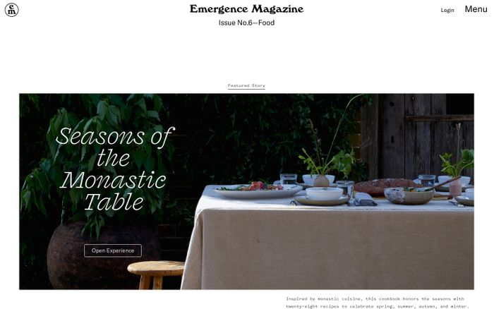 Screenshot of Emergence Magazine website