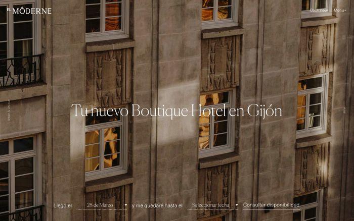 Screenshot of El Moderne Hotel en Gijón - Un Hotel Urbano y Cosmopolita en Gijón