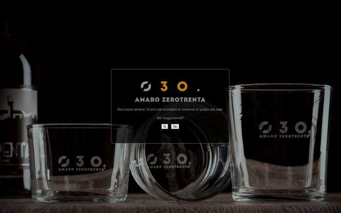 Screenshot of Amaro Zerotrenta | Spirito bresciano Amaro Zerotrenta