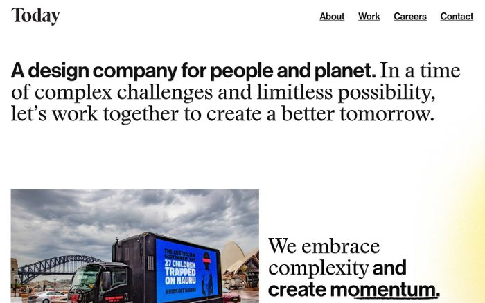 Screenshot of Design for People and Planet — Today | Melbourne and Sydney