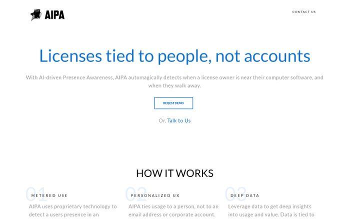 Screenshot of AIPA - Presence Awareness. Powered by AI.