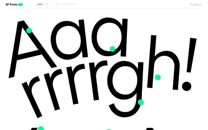 Screenshot of Studio Feixen Fonts