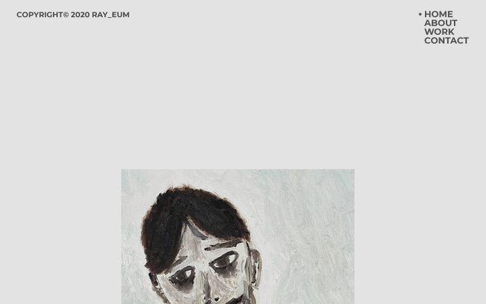 Screenshot of Ray_eum Portfolio website
