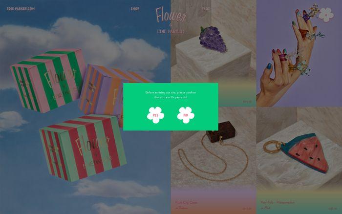 Screenshot of Edie Parker Flower Official Store | High-End Headshop