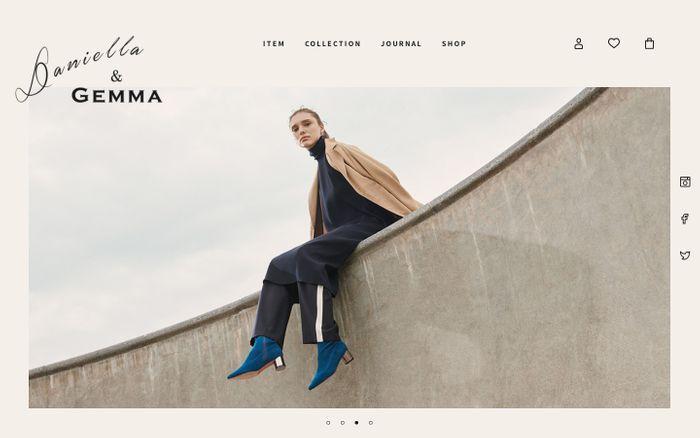 Screenshot of Daniella & GEMMA(ダニエラ&ジェマ)オンラインストア