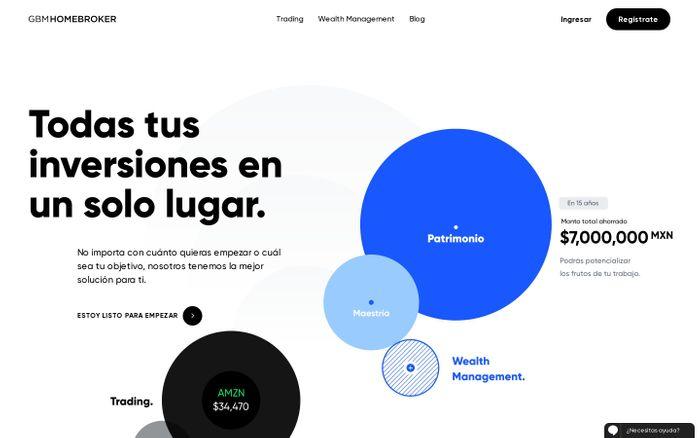Screenshot of GBMhomebroker: Plataforma de inversión y trading en México