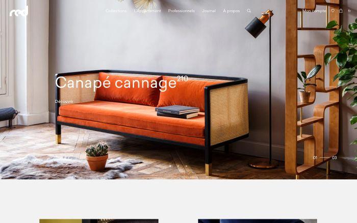 Screenshot of Red Edition website