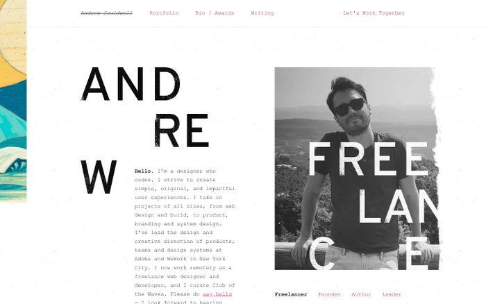 Screenshot of Andrew Couldwell - Freelance Web Designer and Developer