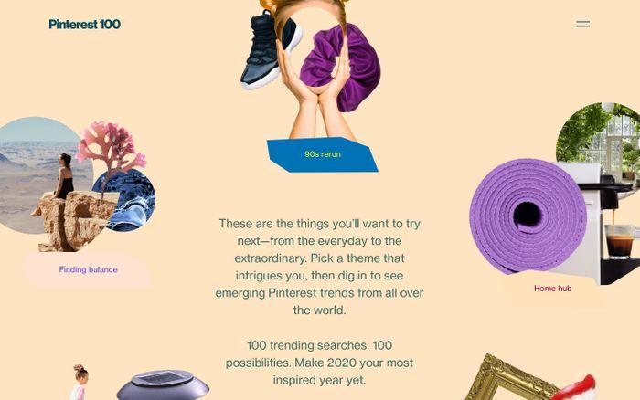 Screenshot of Pinterest 100 | The Top Pinterest Trends for 2020