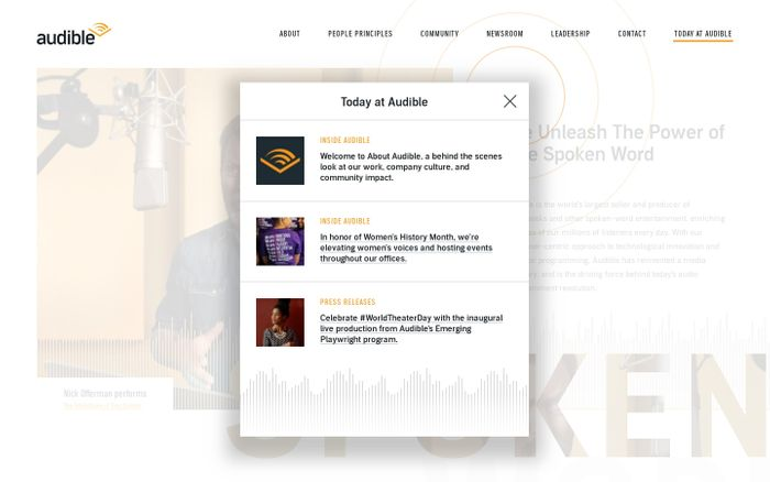 Screenshot of About Audible | About Audible