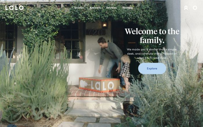 Screenshot of Lalo | A Modern Baby and Toddler Brand | Explore The Daily Stroller