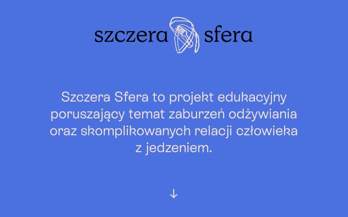 Screenshot of Szczera Sfera website