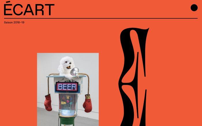 Screenshot of Écart | Lieu d'art actuel