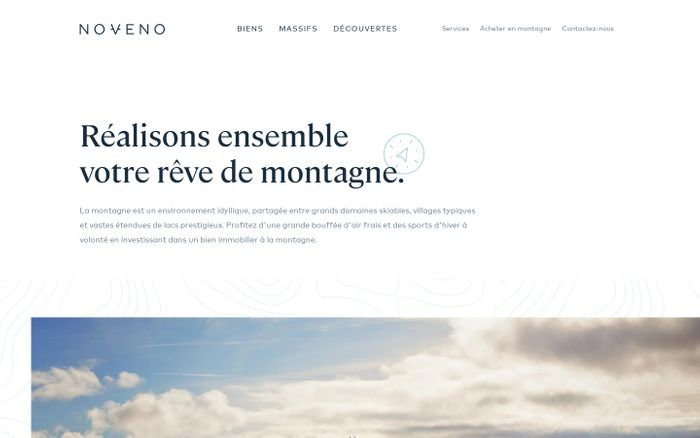 Screenshot of Noveno | Immobilier à la montagne