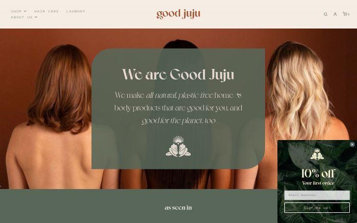 Screenshot of Good Juju website