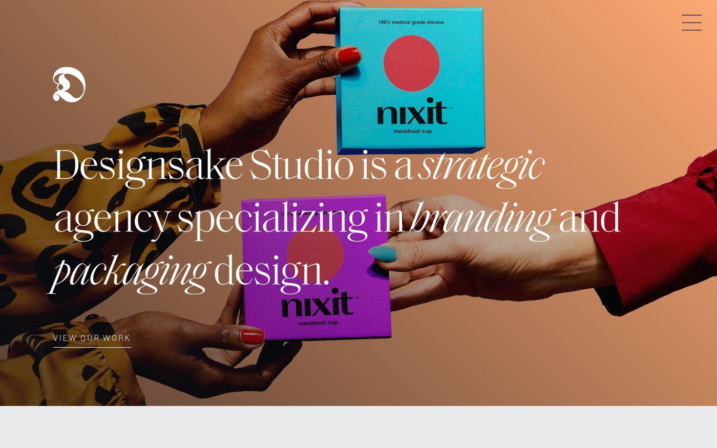 Screenshot of Designsake Studio website