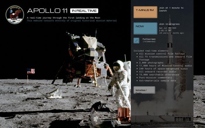 Screenshot of Apollo 11 in Real-time