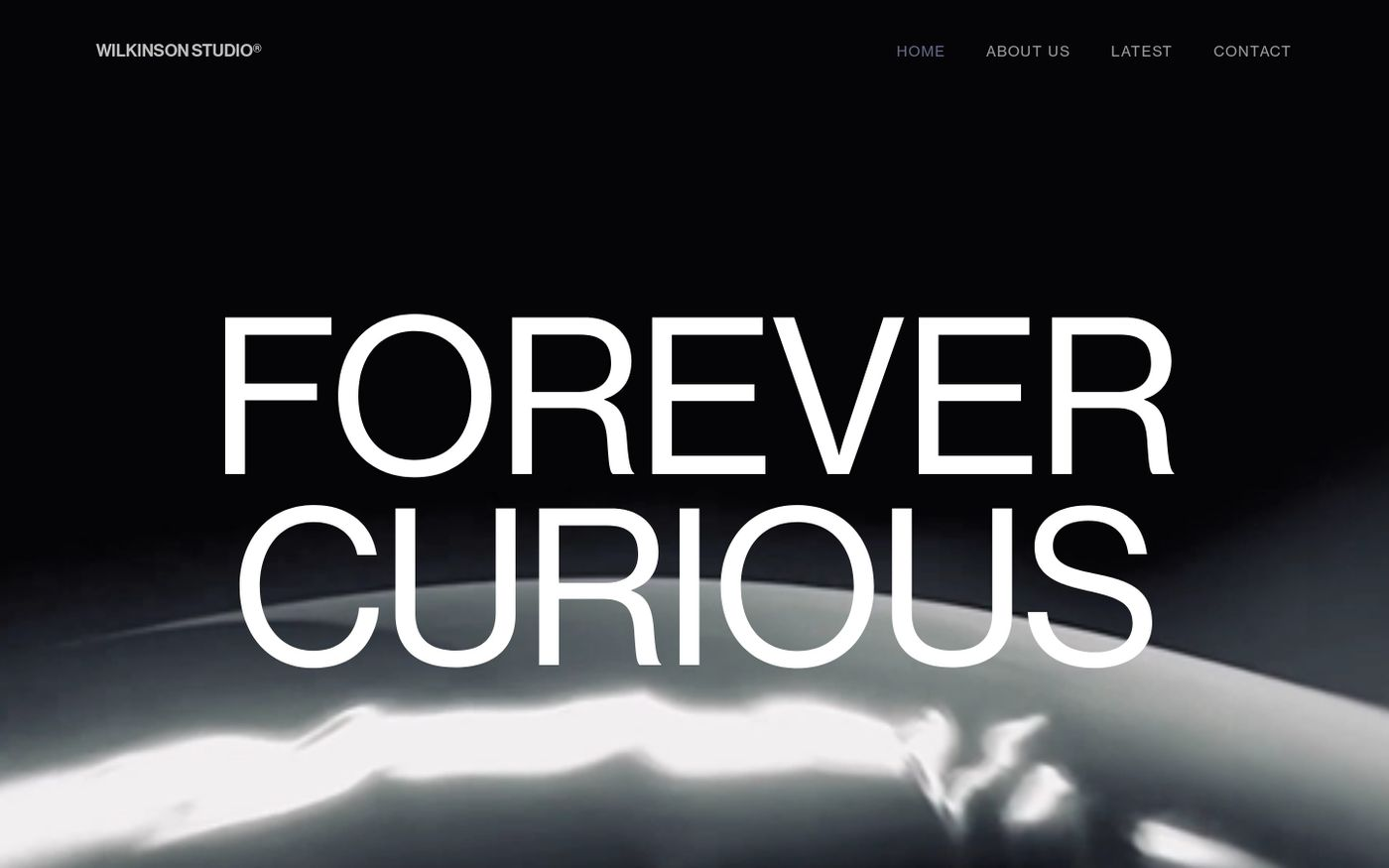 Screenshot of Wilkinson studio website