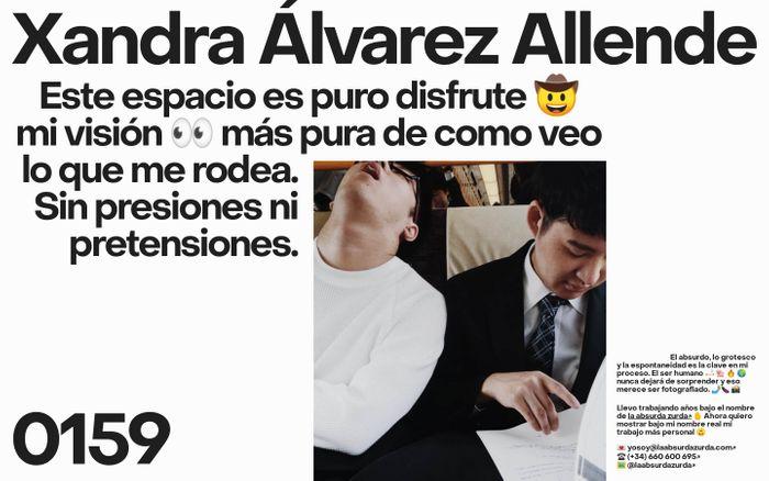 Screenshot of Xandra Alvarez Allende website
