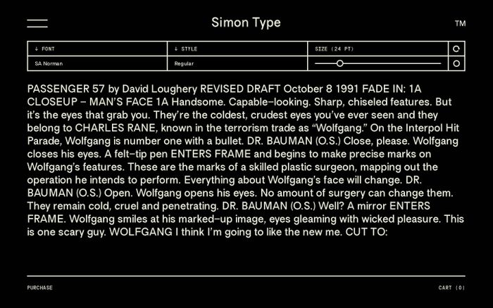 Screenshot of Simon Type
