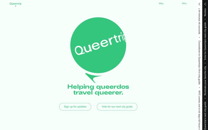 Screenshot of Queertrip