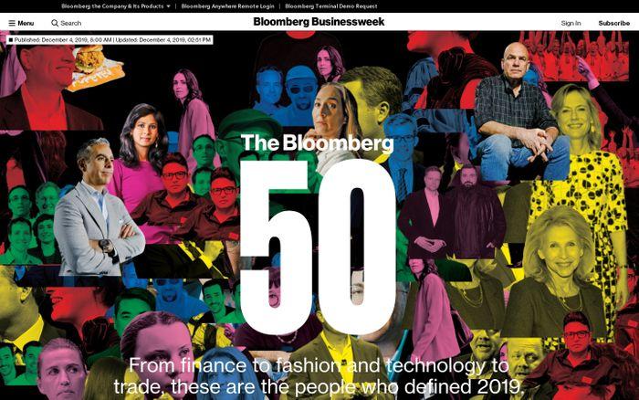 Screenshot of The Bloomberg 50