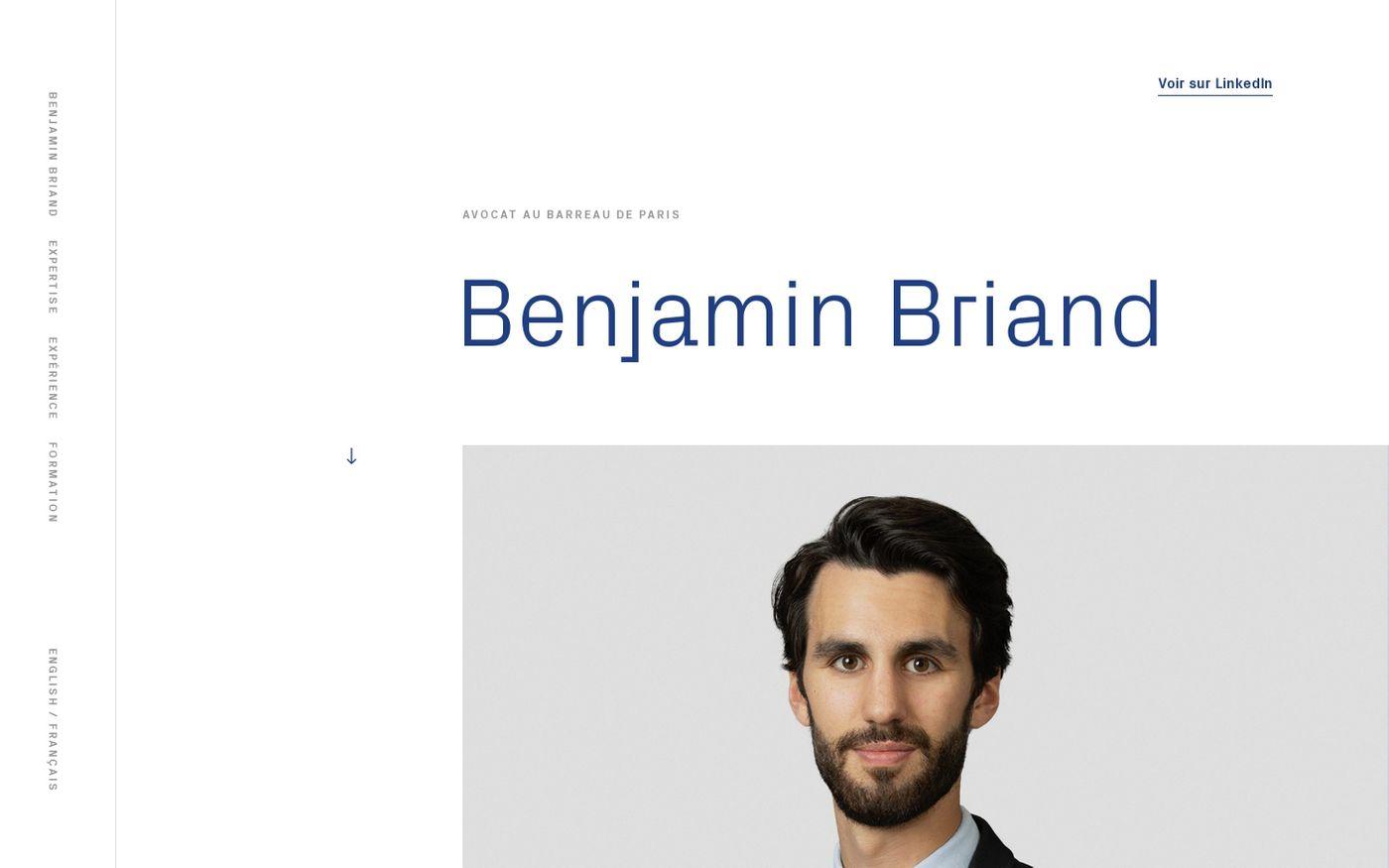 Screenshot of Benjamin Briand website