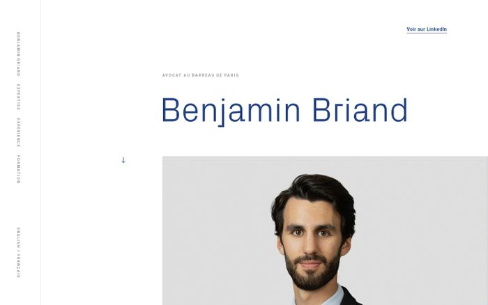 Screenshot of Benjamin Briand website