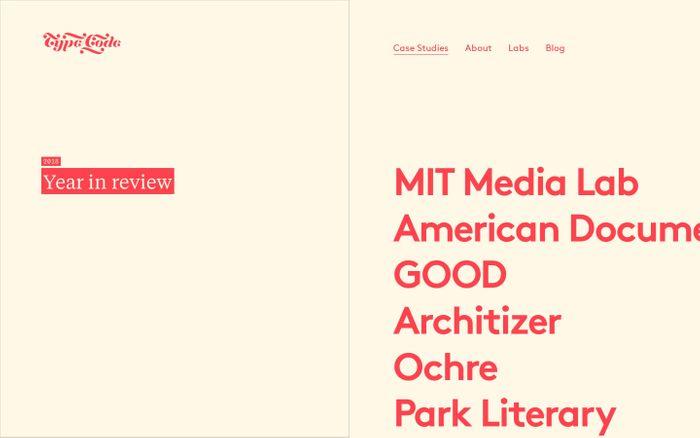 Screenshot of Type/Code | Strategy, Design, & Development