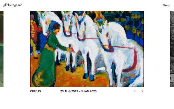 Screenshot of Gl. Holtegaard   Kunsthal for ny og ældre kunst