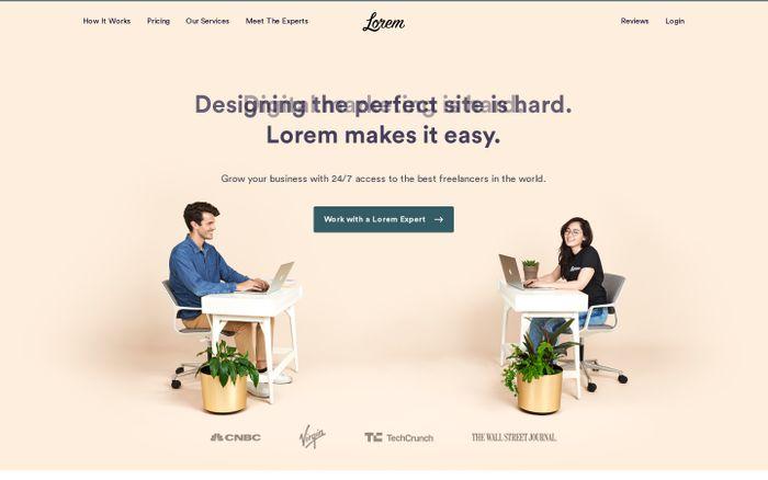 Screenshot of Lorem - Building Your Website Is Hard. We Make It Easy.